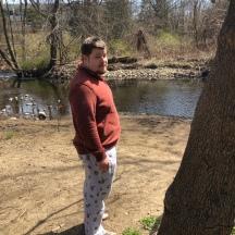 Steve sporiting the social distance fashion